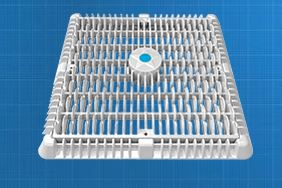 Aqua Star 12″ Square Wave Anti-Entrapment Suction Outlet Cover